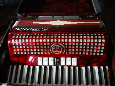 E. Tombolini Accordion 120 Bass w/ Case made in Italy