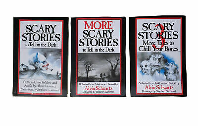 Full Set! Scary Stories to Tell in the Dark Series by Alvin Schwartz (Paperback)