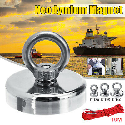 11-54KG Pull Salvage Strong Recovery Magnet Fishing Treasure Neodymium with Rope