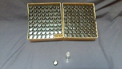 Wheaton small clear glass bottles vials containers w/screw top lids 143 in box