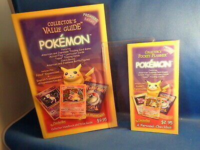Pokemon - Collectors Value Guide And Pocket Planner (2) 1999 Checker Bee Books