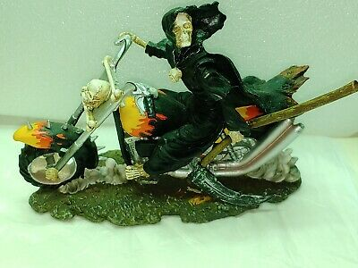 Grimm Reaper Riding Motorcycle Figurine
