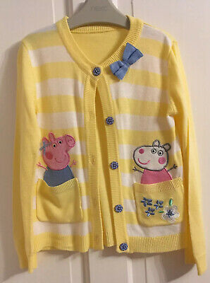 💕 NUTMEG 💕 Girls  Cardigans Peppa Pig Age 5-6 Years 💕 Yellow White. Worn Once