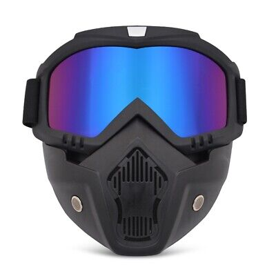 Motorcycle Off-Road Goggles with Removable Dual Purpose Windproof Mask