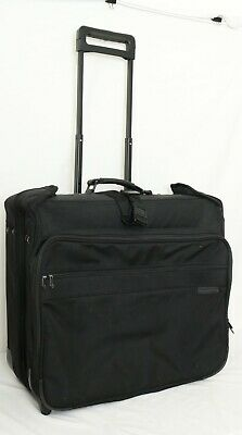 Briggs & Riley Baseline U76 Black Wheeled Rolling Garmet Bag Luggage Suitcase