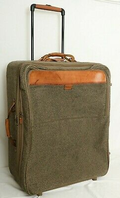 Vintage Briggs & Riley Tweed Expandable Rolling Garmet Bag Luggage Suitcase
