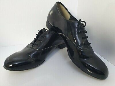 Freed Classic Patent Men's Dance Shoes Size UK 8  Suede Sole (h2)