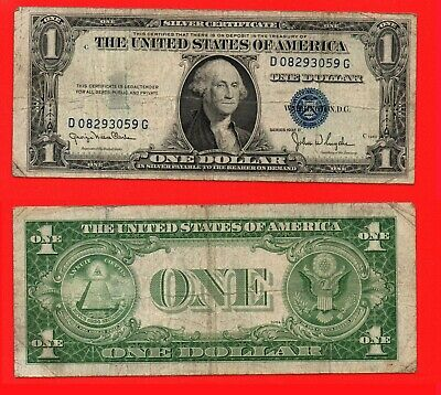 United States 1935D silver certificate 1 dollar banknote