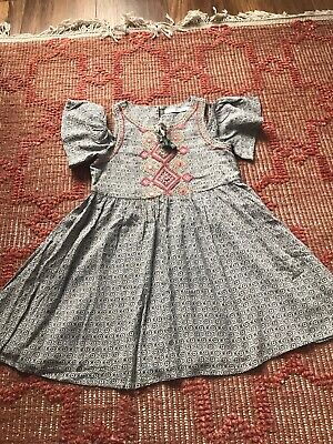 Girls MARKS AND SPENCER Embroidered Dress Age 3-4 Years BEAUTIFUL M&S Kids