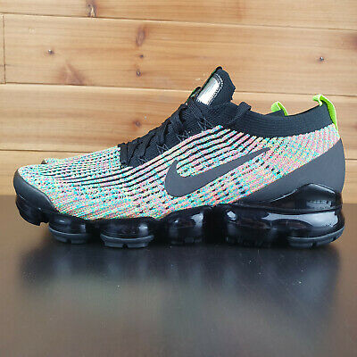 Nike Air Vapormax Flyknit 3 Multi Color AJ6900 006 Mens Shoes Volt Black