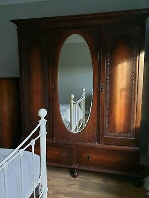 Antique Wardrobe with Mirror And Drawers