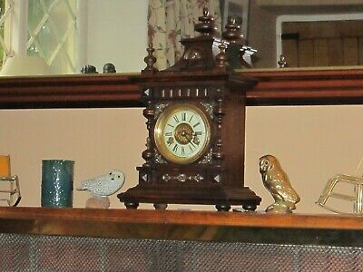 Antique Chiming Crossed Arrows Bracket Clock In V.g.w.o Overhauled