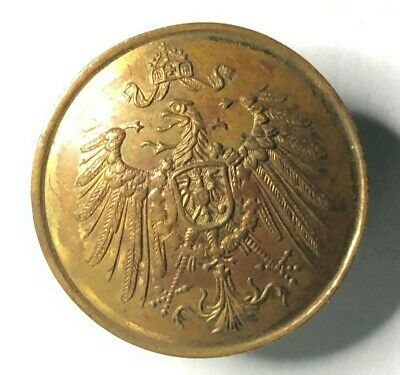 19th Century prussian army officers gilt button 23 mm by Emil Meyer Breslau