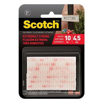 Scotch Extreme Fasteners Weather Resistant Dual Lock Heavy Duty Strength, Clear