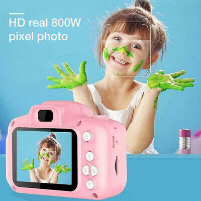 "Pink 32GB Kids Childs Digital Camera 1080P 2"" HD LCD Mini Camcorder  Support UK"