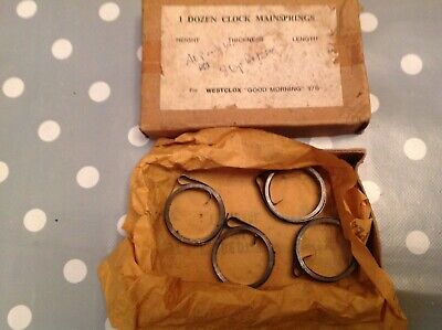 Clock Mainsprings Westclox Parts Boxed From Clockmakers Spares