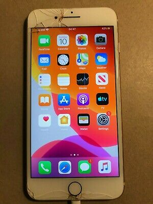 Apple iPhone 8 + Plus - 64GB - Gold (Unlocked) screen cracked, fully working
