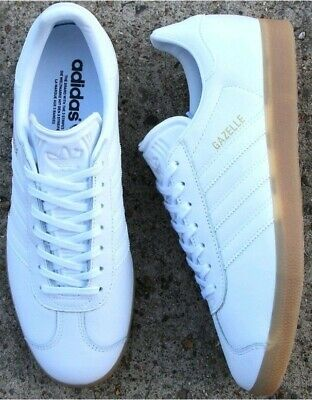 Adidas Originals Gazelles Size 10 White Leather
