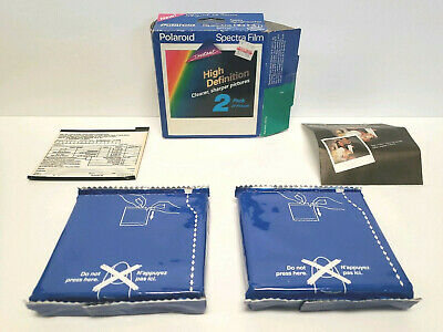 Polaroid Spectra HD Film 2 Sealed Packs Camera 20 Pictures Exp 09/92 Vintage