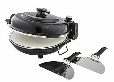 Masterpro Plastic SS Ceramic Built-In Timer Dual Heating Ultimate Pizza Oven