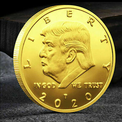 US Trump 2020 Gold Plated Commemorative Coin Keep America Great Gift collection