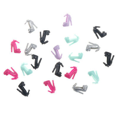 10 Pairs  Shoes Party Dress Doll Shoes  Dolls Accessories Gift_FA