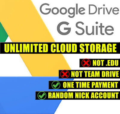 Google Drive G Suite (Unlimited Cloud Storage) Account