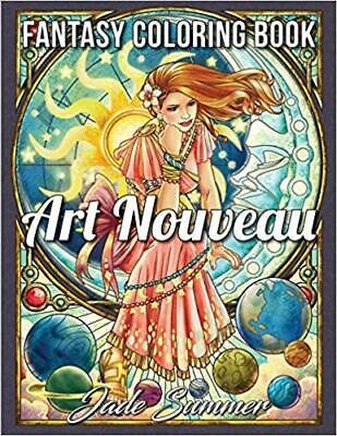 Art Nouveau: An Adult Coloring Book with Fantasy Women...PAPERBACK – 2019 by ...