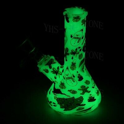 Water pipe hookah shisha 5'' Luminous silicone smoking Christmas beaker Bong