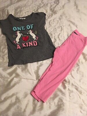 H And M Girls Unicorn Top And Leggings