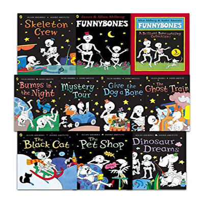 Funny Bones 10 Books Collection Set by Allan Ahlberg A Bone Rattling PB NEW