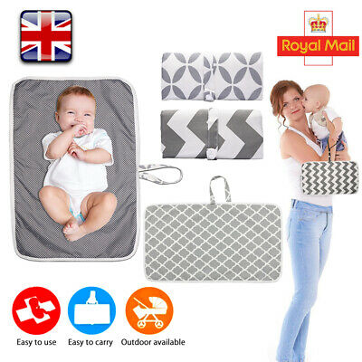 Baby Waterproof Portable Foldable Washable Travel Nappy Diaper Play Changing Mat