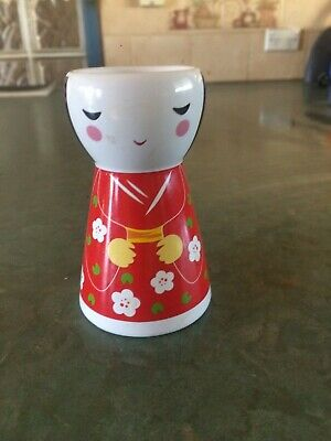 Tall Ceramic Novelty Egg Cup