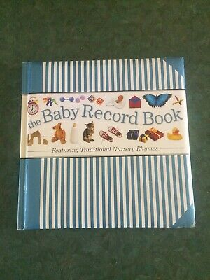 Hinkler Baby Record Book Featuring Traditional Nursery Rhymes: Blue