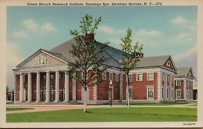 Vintage Postcard Simon Baruch Research institute Saratoga Springs New York