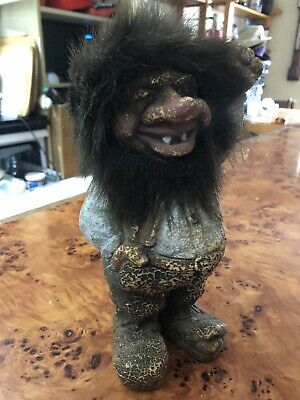 Vintage Troll Norway Norwegian Figure Hand Made Nyform Original Scandinavian Big