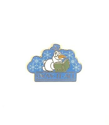 Disney Parks Frozen Olaf Reading A Book Snow-It-All 2019 Holiday Pin New