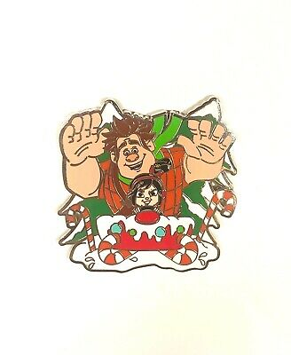 Disney Parks Christmas Wreck it Ralph & Vanellope 2019 Holiday Edition Pin New
