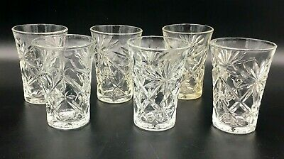 Vintage Anchor Hocking Glass Prescut Pineapple & Oatmeal Clear 8 oz Tumbler EAPC