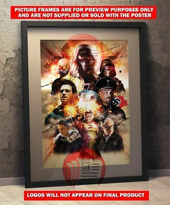 """Crisis on Earth X Poster 48x32/"""" 36x24/"""" 21x14/"""" The Flash Supergirl Crossover Silk"""