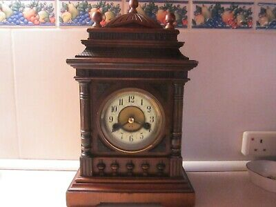 Antique Walnut Striking  Bracket Clock - Overhauled & In Superb Condition