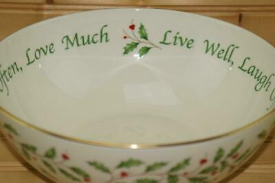 Lenox HOLIDAY Dimension Collection Sentiment Round Vegetable Serving Bowl NIB