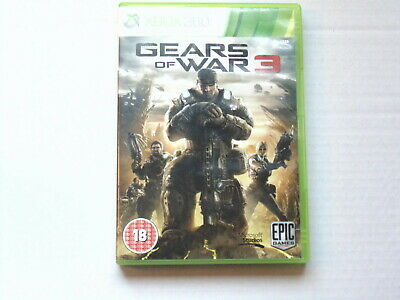 XBOX 360 GEARS OF WAR 3 includes GOW 3 sticker sheet (Unused) Shooter