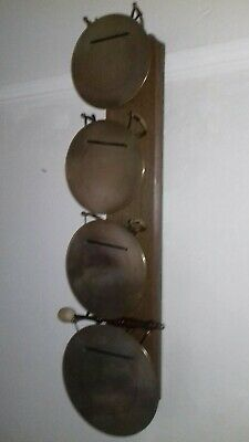 Rare Antique Victorian Edwardian 4 Gong Westminster Chime Brass Hall Wall Dinner