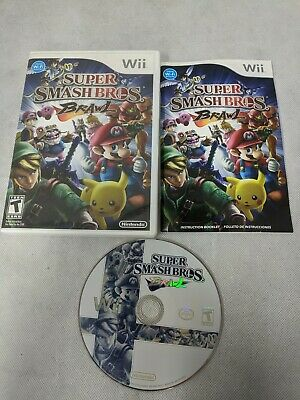 Super Smash Bros. Brawl (Nintendo Wii, 2008) Complete Tested Excellent condition