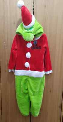 Grinch Christmas Kids Boys/Girls Hooded All in One Jumpsuit Nightwear Primark