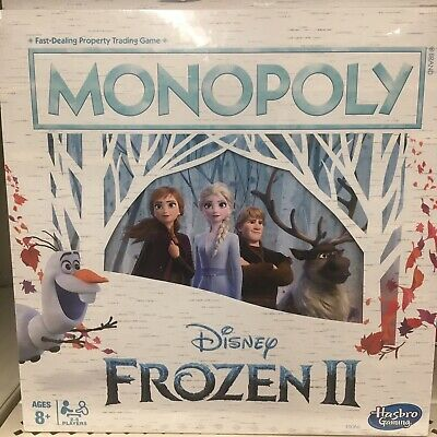 DISNEY FROZEN 2 MONOPOLY Board Game Hasbro 2019 II Elsa Bruni Olaf Anna NEW