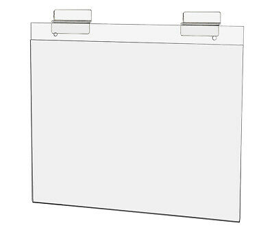 """Ad Frame with Double Slatwall Attachment 11""""W x 8 1/2""""H Clear Acrylic"""