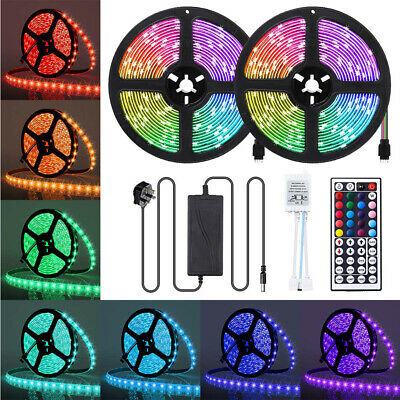 10m Waterproof Color Changing RGB SMD3528 600leds LED Strip Light+ Remote+ Power