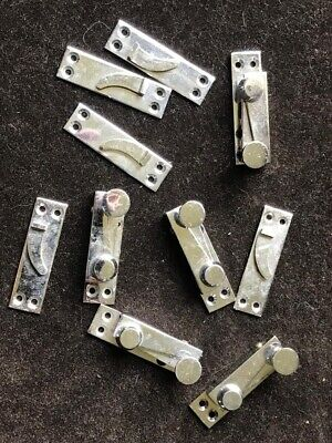 Reclaimed Polished Chrome Sash Window Fasteners Catches Job Lot x 5
